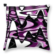 Retro Waves Abstract - Pink Throw Pillow
