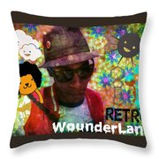 Retro Wounderland Throw Pillow