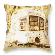 Retrod The Comic Caravan Throw Pillow