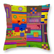 Retrospect Throw Pillow by David K Small