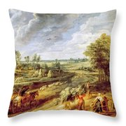 Return From The Harvest Throw Pillow