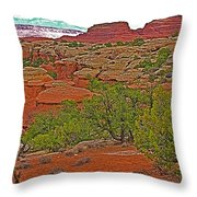 Return Trail To Elephant Hill In Needles District Of Canyonlands National Park-utah Throw Pillow