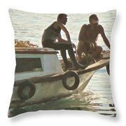 Returning At The End Of The Day Throw Pillow