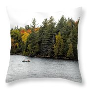 Returning From A Canoe Trip Throw Pillow