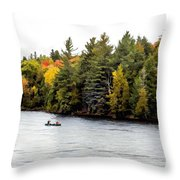 Returning From A Canoe Trip - V2 Throw Pillow