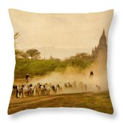 Returning From Pasture 4 Throw Pillow