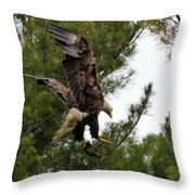 Returning With Dinner Throw Pillow
