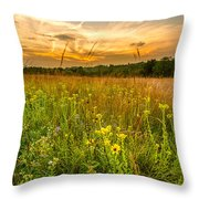 Retzer Wildflower Sunset Throw Pillow