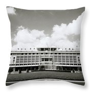 Reunification Palace Saigon Throw Pillow