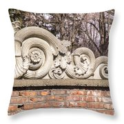 Reused Architectural Salvage Throw Pillow