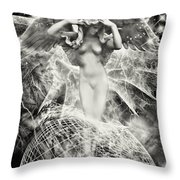 Revelation Of Angel Throw Pillow