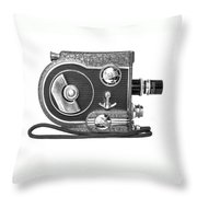 Revere 8 Movie Camera Throw Pillow
