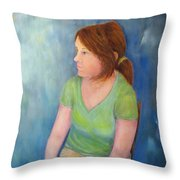 Reverie Of A Young Woman Throw Pillow