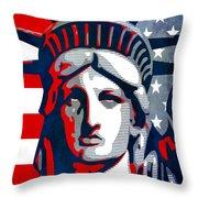 Reversing Liberty 1 Throw Pillow