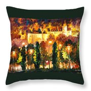 Revived Legend - Palette Knife Oil Painting On Canvas By Leonid Afremov Throw Pillow