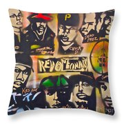 Revolutionary Hip Hop Throw Pillow