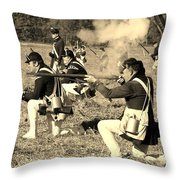 Revolutionary War Battle Throw Pillow