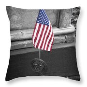 Revolutionary War Veteran Marker Throw Pillow by Teresa Mucha