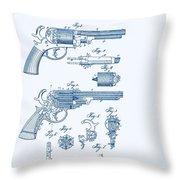 Revolver Patent E.t Starr Throw Pillow