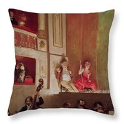 Revue At The Theatre Des Varietes, C.1885 Oil On Canvas Throw Pillow