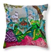 Rex Mardi Gras Parade II Throw Pillow