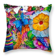 Rex Mardi Gras Parade Throw Pillow