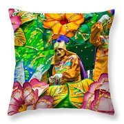 Rex Mardi Gras Parade X Throw Pillow