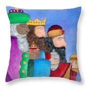 Reyes Magos Throw Pillow