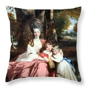 Reynolds' Lady Elizabeth Delme And Her Children Throw Pillow