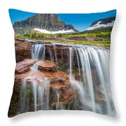 Reynolds Mountain Falls Throw Pillow