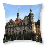 Rezidenzschloss - Dresden  -  Germany Throw Pillow