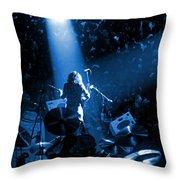 Rg #7 In Blue Throw Pillow