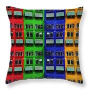 Rgby - Downtown Apartments Throw Pillow