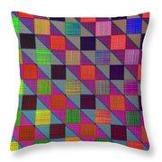 Rgby Squares II Throw Pillow