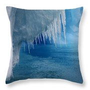 Rhapsody In Blue Throw Pillow by Ginny Barklow