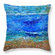 Rhapsody On The Sea Square Crop Throw Pillow