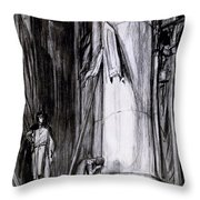 Rheims Cathedral, Scene From St Joan Throw Pillow