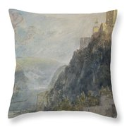 Rheinfels Looking To Katz And Gourhausen Throw Pillow