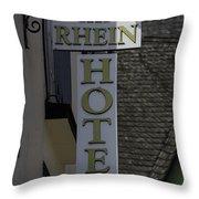 Rhine Hotel St Martin Sign  Throw Pillow