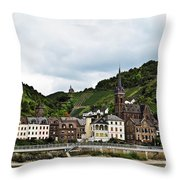 Rhine River View Throw Pillow