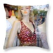Rhinestone Rhonda Throw Pillow