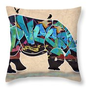 Rhino 2 Throw Pillow