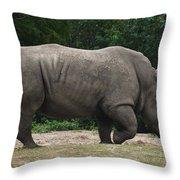 Rhino In The Wild Throw Pillow