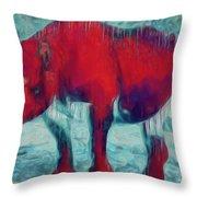 Rhino Throw Pillow by Jack Zulli