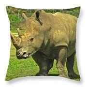 Rhino Look Throw Pillow
