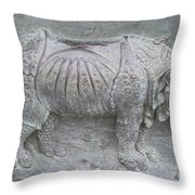 Rhino Relief - Church Door Detail Pisa Throw Pillow