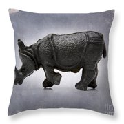 Rhinoceros Throw Pillow by Bernard Jaubert