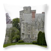 Rhoads Hall Bryn Mawr College Throw Pillow