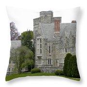Rhoads Hall Bryn Mawr College Throw Pillow by Georgia Fowler