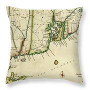 Rhode Island 1780 Throw Pillow